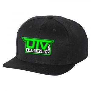 UTV Takeover Black Snapback Flat-Bill Hat