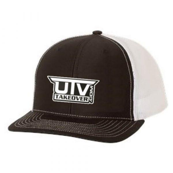 UTV Takeover Black & White Mesh Trucker Hat