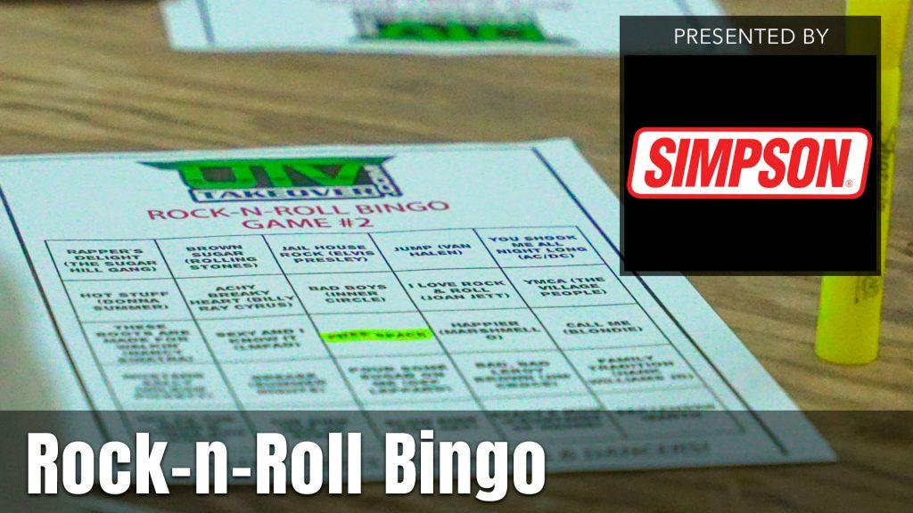 UTV Takeover Rock-n-Roll Bingo presented by Simpson Seats
